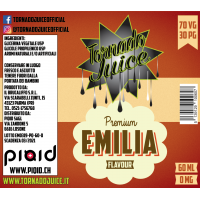 Emilia 60ml - 70/30 - 0 mg/ml - Tornado Juice