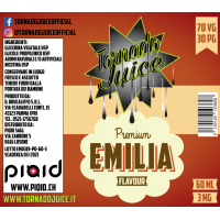 Emilia 60ml - 70/30 - 3 mg/ml - Tornado Juice