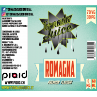 Romagna 60 ml - 70/30 - 0 mg/ml - Tornado Juice