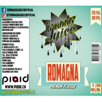 Romagna 60 ml - 70/30 - 3 mg/ml - Tornado Juice